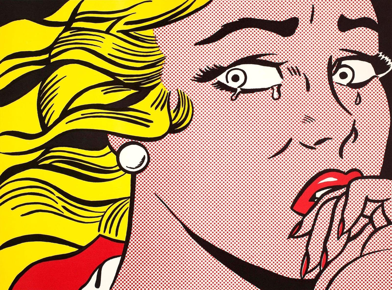 Roy Lichtenstein Amsterdam Crying girl-min