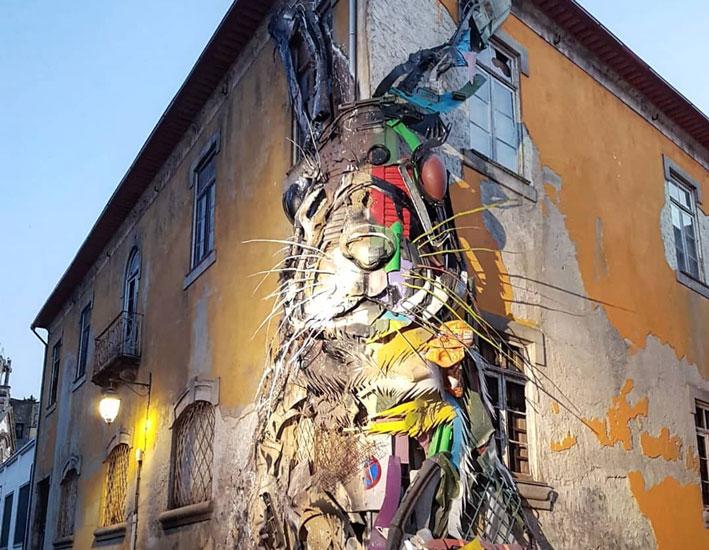 kunstenaars die met afval werken bordalo 2