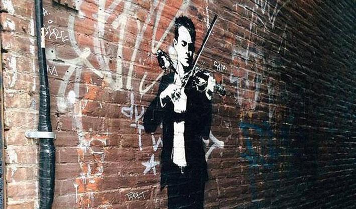 ontstaan street Art blek le rat