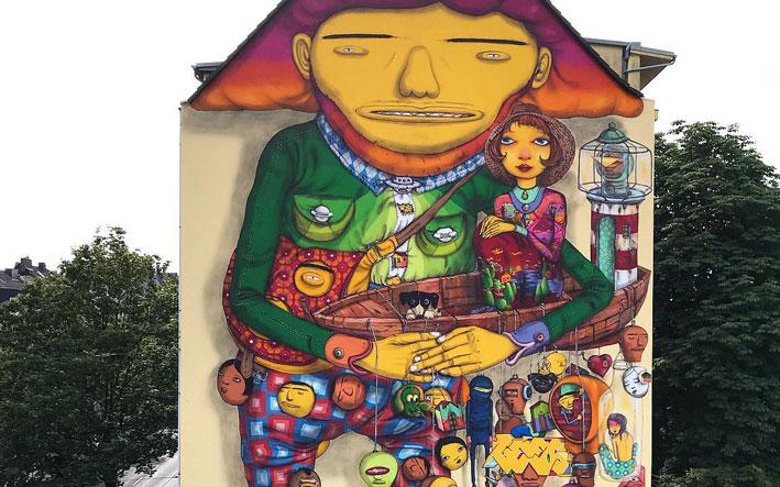 streetartist kunstenaars os-gemeos