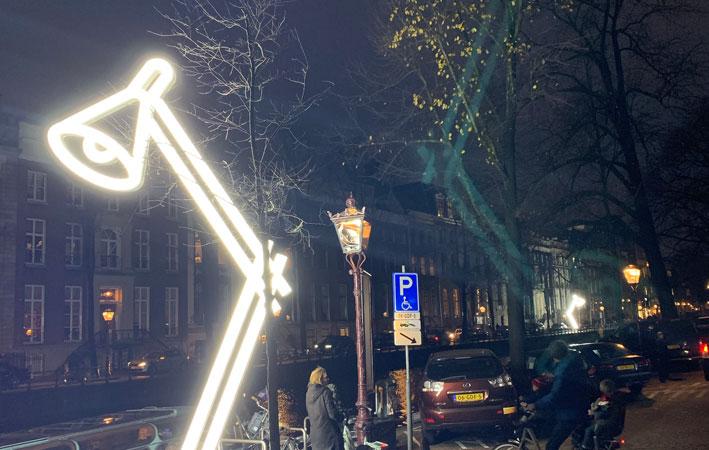 wandelroute fietsroute amsterdam light festival lampjes