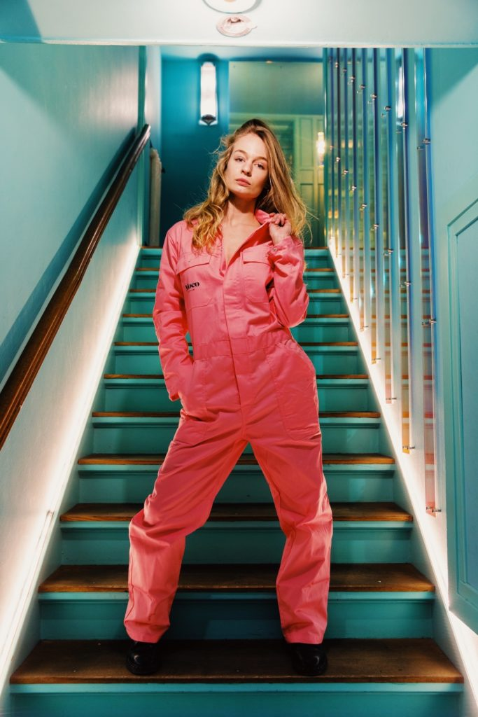 Studio Irma Stairway with Moco Pink Jumpsuit